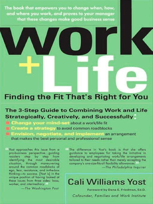 Work, Life, Finding the Fit, Cali Yost