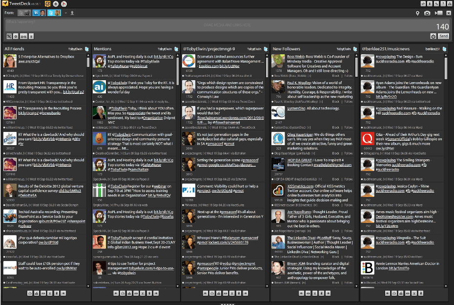 tweetdeck, screenshot, Toby Elwin, blog