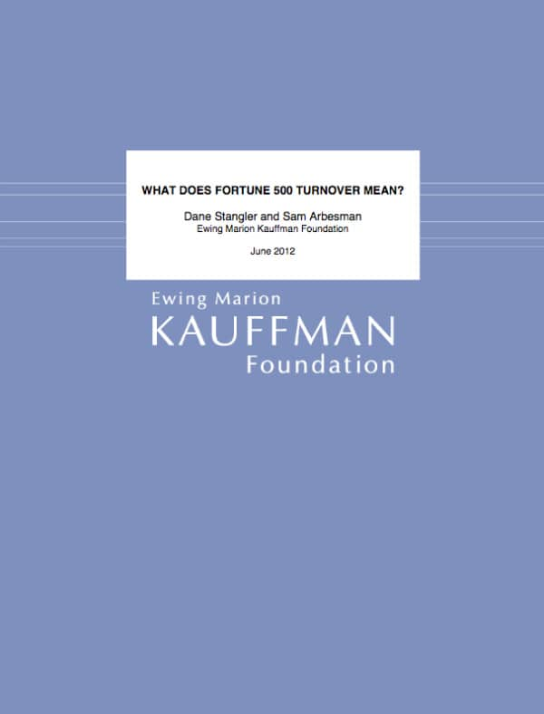 Kauffman Foundation, Fortune 500, Toby Elwin, blog
