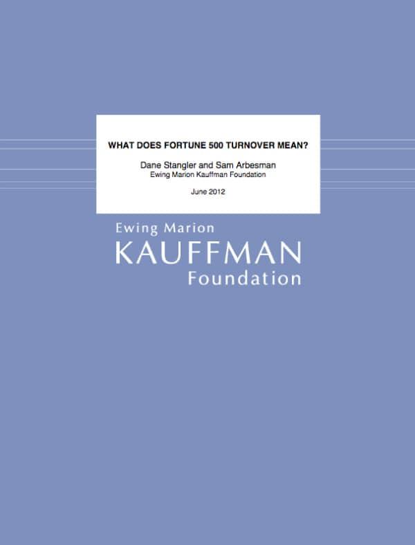 Kauffman Foundation, Fortune 500, Toby Elwin, blog