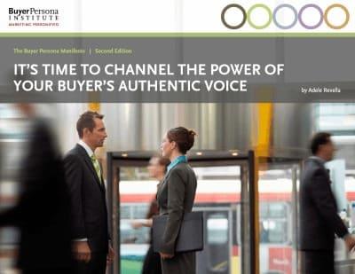 Adele Revella, buyer persona, ebook, buyer persona institute, community persona