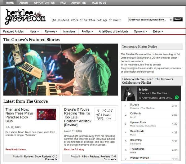 Berklee College of Music, Berklee Groove, sceenshot, Toby Elwin, Zac Taylor, Paul Jefferson