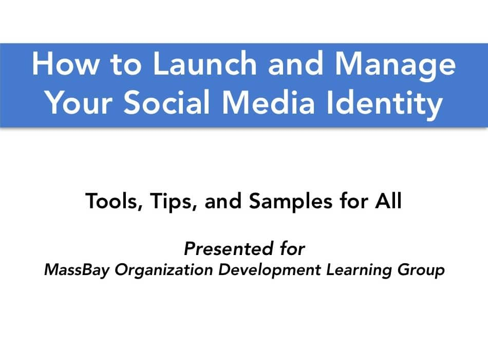 social media, training, launch, manage